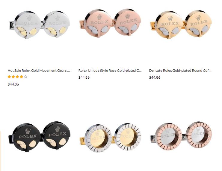 rolex cufflinks replica sale australia